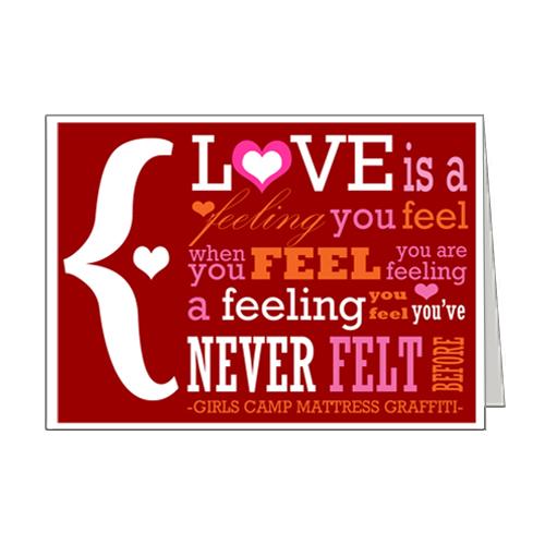 Love is a Feeling Card