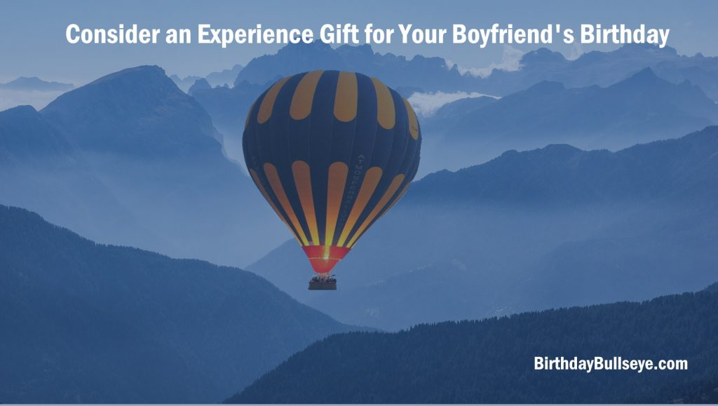 An Experience Gift for Birthday Gift for Boyfriend