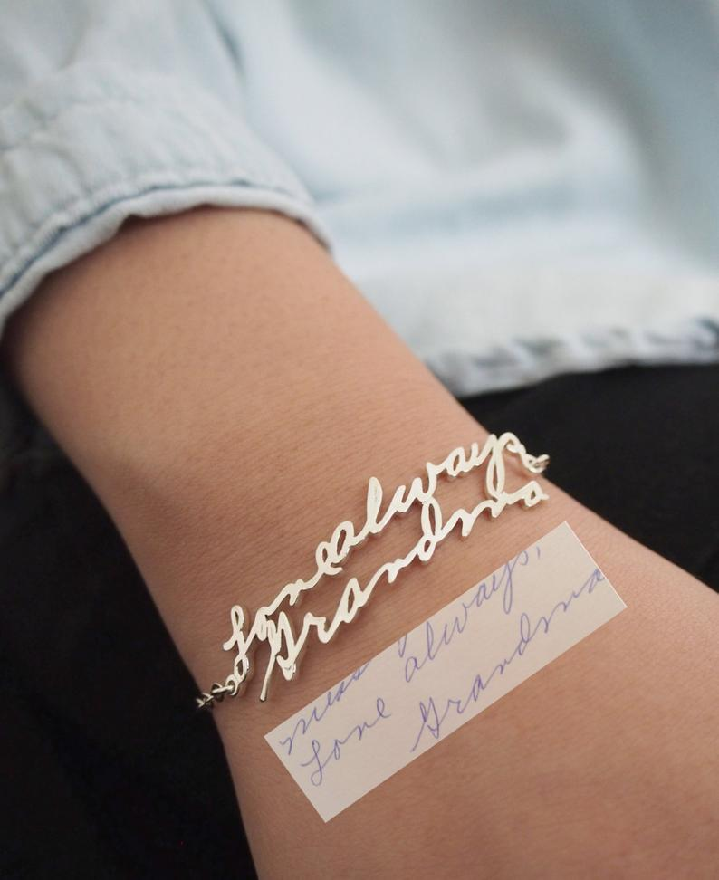 Handwriting Bracelets for Best Friend Birthday Gifts